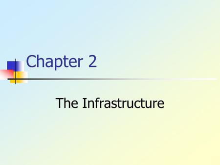 Chapter 2 The Infrastructure. Copyright © 2003, Addison Wesley Understand the structure & elements As a business student, it is important that you understand.