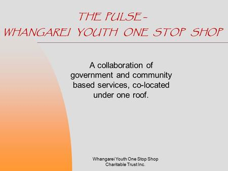 THE PULSE – WHANGAREI YOUTH ONE STOP SHOP