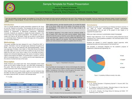 sample template for poster presentation introduction this is a, Powerpoint templates