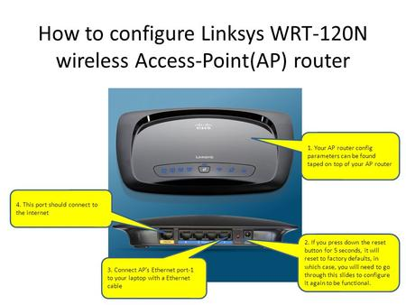 How to configure Linksys WRT-120N wireless Access-Point(AP) router