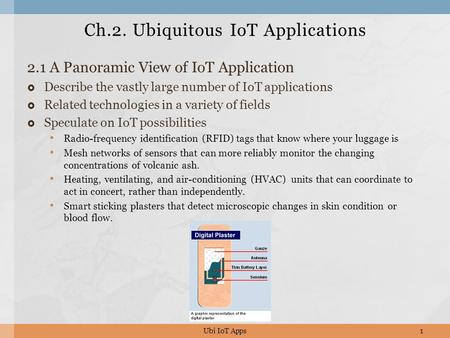 Ch.2. Ubiquitous IoT Applications