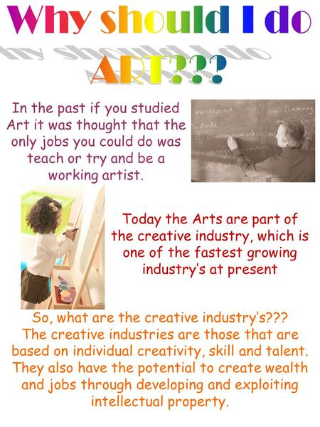 About the Creative industries Did you know the creative industries in the UK contribute revenues approaching £60bn to the economy and employ more than.
