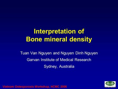 Interpretation of Bone mineral density