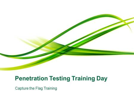 Penetration Testing Training Day Capture the Flag Training.