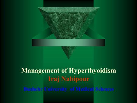 Hyperthyroidism Hyperthyroidism is predominantly a disorder in women.