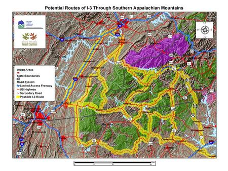 Impacts of Interstate Road Construction in Mountain Terrain.