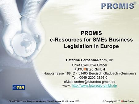 PROMIS e-Resources for SMEs Business Legislation in Europe