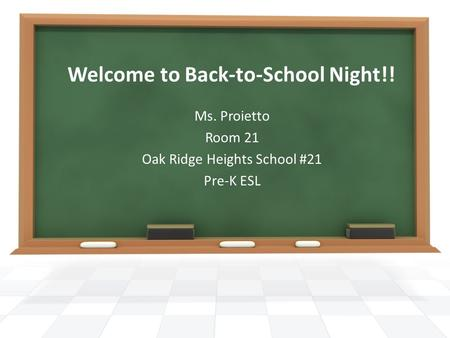 Welcome to Back-to-School Night!!