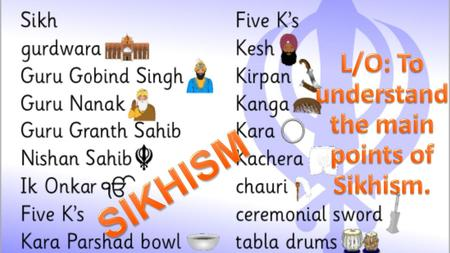 History/origins of the religion  Sikhism was founded in India in an area called the Punjab by the first guru:
