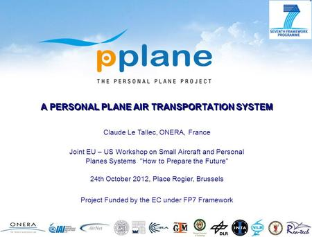 A PERSONAL PLANE AIR TRANSPORTATION SYSTEM