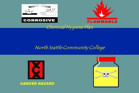 Chemical Hygiene Plan North Seattle Community College.