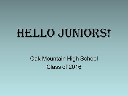Oak Mountain High School Class of 2016