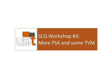 SCG Workshop #3: More FSA and some TVM. Agenda Review of Fin Statements The BS and IS The Statement of Cash Flows The Looking at health and profitability.