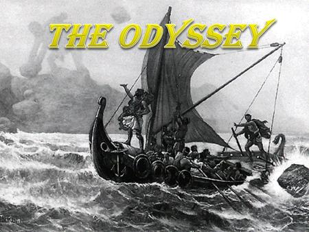 Setting: Odysseus is on Calypso's Island Time: It picks up 10 years after the fall of Troy, which means he is 20 years away from home.