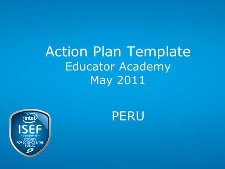 Action Plan Template Educator Academy May 2011 PERU.