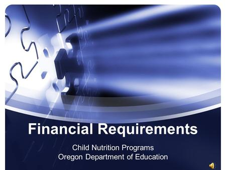 Financial Requirements Child Nutrition Programs Oregon Department of Education.