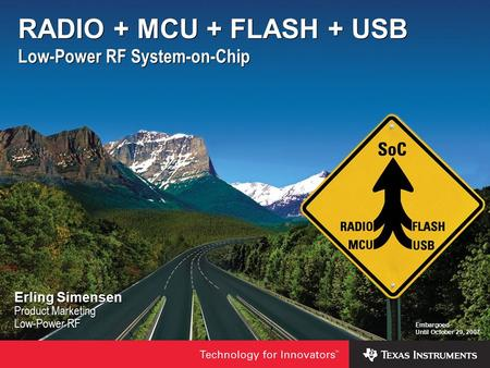 RADIO + MCU + FLASH + USB Low-Power RF System-on-Chip