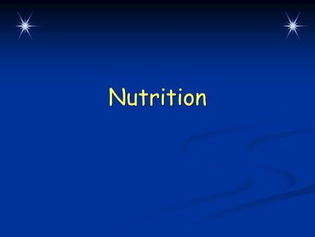 Nutrition. Warm-Up Questions CPS Questions 1-2 Chapter 3, Lesson 2.