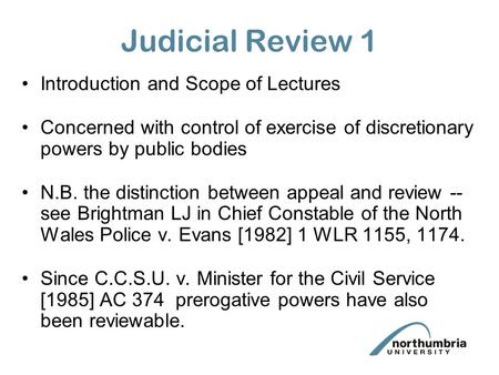 a brief introduction on judicial review Introduction the high court has a power or jurisdiction called judicial review  judicial review is a way for the high court to supervise the.