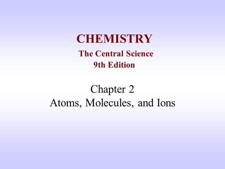 Which scientist first postulated the existence of ions? (Chemistry)?