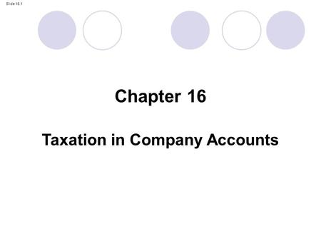 Taxation in Company Accounts