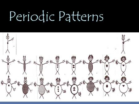 Periodic Patterns. Design of the Periodic Table  Classification of Element  By looking at where a element is on the periodic table, you can tell about.