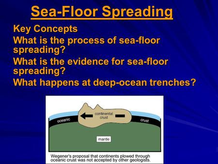 Sea-Floor Spreading Key Concepts