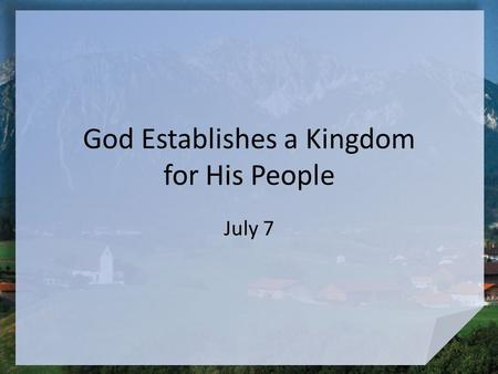 "God Establishes a Kingdom for His People July 7. Interesting Names Names of the ""staff"" of the NPR radio show, Car Talk, with Click and Clack the Tappet."