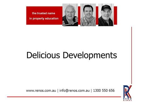 Delicious Developments  | | 1300 550 656.