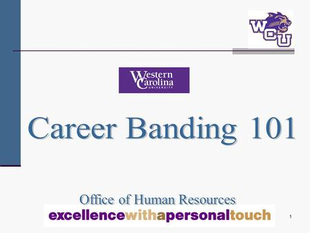 1. 2 Objectives To provide a historical perspective on career banding To familiarize you with career banding terminology and career banding concepts To.