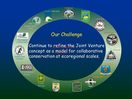 Texas Forest Service Tennessee Kentucky Wildlife Mgt Institute The Nature Conservancy US Geological Survey Ducks Unlimited Mississippi Arkansas Louisiana.