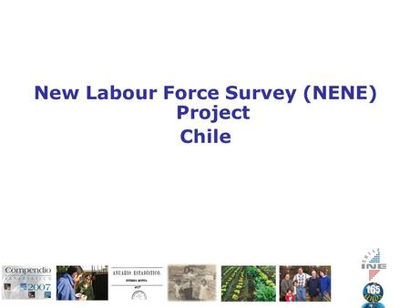 New Labour Force Survey (NENE) Project Chile. General Aspects Changes in Labour Market during the last decades Measure the main concepts according to.