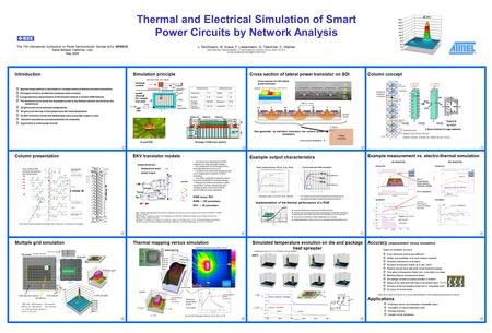 Thermal and Electrical Simulation of Smart Power Circuits by Network Analysis IntroductionSimulation principleCross section of lateral power transistor.