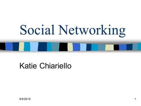9/6/20151 Social Networking Katie Chiariello. 9/6/2015 2 Introduction Social networking sites are the new way employers are finding new hires. Networking.
