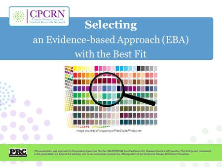 Selecting an Evidence-based Approach (EBA) with the Best Fit Image courtesy of Naypong at FreeDigitalPhotos.net.