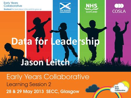 Data for Leadership Jason Leitch. Purpose of this session Current position of the work so far Revisit the Science of Improvement What is your data telling.