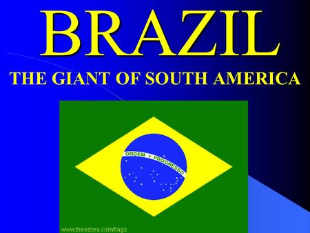 BRAZIL THE GIANT OF SOUTH AMERICA A. TWO MAJOR TYPES OF LANDFORMS 1. Plains: a. 10-30 miles deep along the Atlantic coast b. Amazon River basin 2.