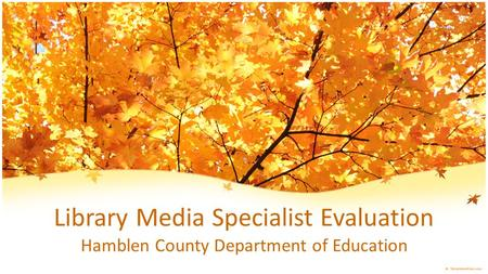 Library Media Specialist Evaluation Hamblen County Department of Education.