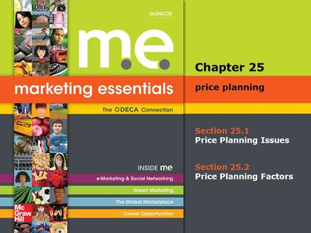Section 25.1 Price Planning Issues Chapter 25 price planning Section 25.2 Price Planning Factors.