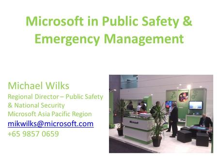 Microsoft in Public Safety & Emergency Management