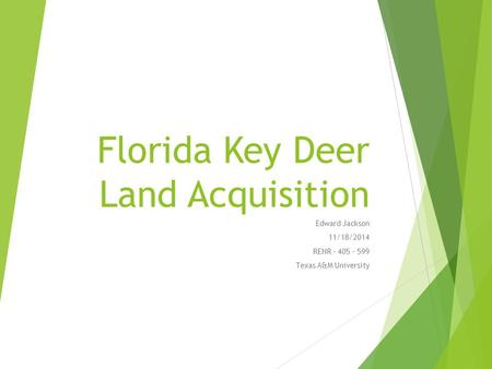 Florida Key Deer Land Acquisition