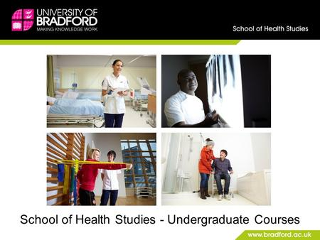 School of Health Studies - Undergraduate Courses.