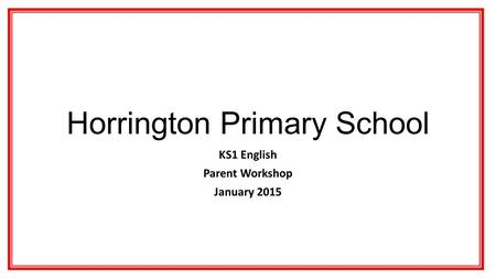 Horrington Primary School