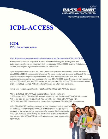 ICDL-ACCESS ICDL ICDL the access exam Visit:  Pass4sureofficial.com.