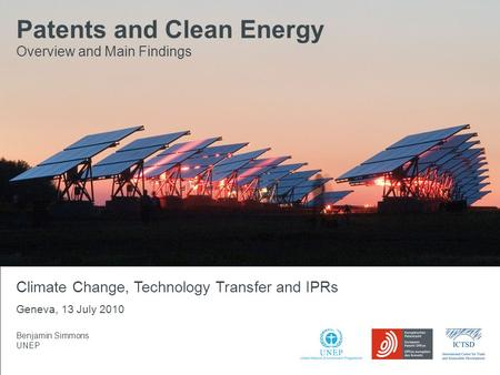XX.XX.2009 Patents and Clean Energy: Bridging the gap between evidence and policy Seite 1 Patents and Clean Energy Overview and Main Findings Benjamin.