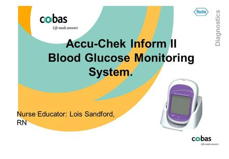 Accu-Chek Inform II Blood Glucose Monitoring System.