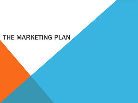 THE MARKETING PLAN. LEARNING INTENTIONS Students will be able to:  Constructively use a SWOT analysis to form business recommendations  Describe the.