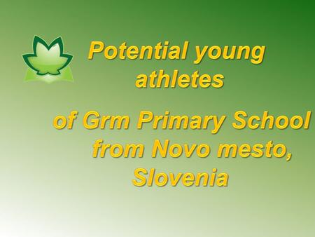 JAKA PLUT GRM PRIMARY SCHOOL, NOVO MESTO My name is Jaka and I am 13 years old. I come from Novo mesto, Slovenia. My favourite sport is handball. I started.