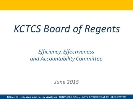 Efficiency, Effectiveness and Accountability Committee.