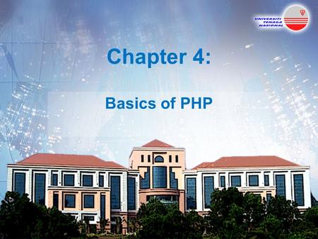 Chapter 4: Basics of PHP 42. Topics Introduction Creating and Executing PHP Programs Variables Operators Constant Arrays String Processing and Regular.